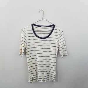 Madewell Short Sleeve Knit Tee Cream and Navy
